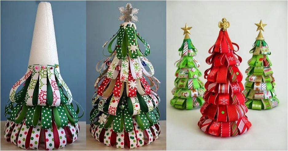 decoracao arvore de natal passo a passo: ♥ஜღ : Enfeites de Natal com Passo a Passo – Árvores de Natal