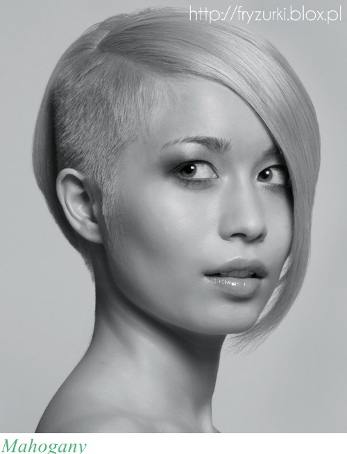 Short Bob with Shaved One Side
