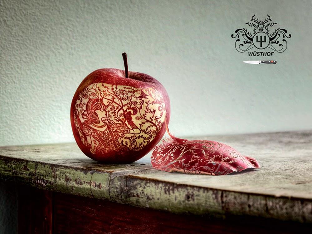 """Pub couteaux Wüsthof Knives """"une pomme pour Blanche-Neige"""""""