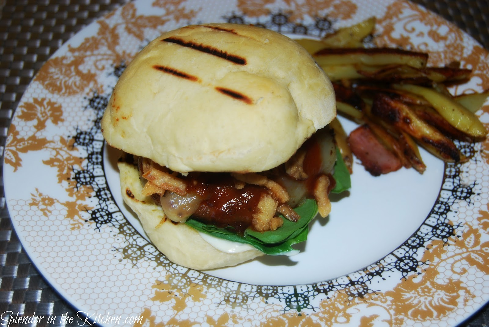 Splendor in the Kitchen: Bbq Portabella Mushroom Burger