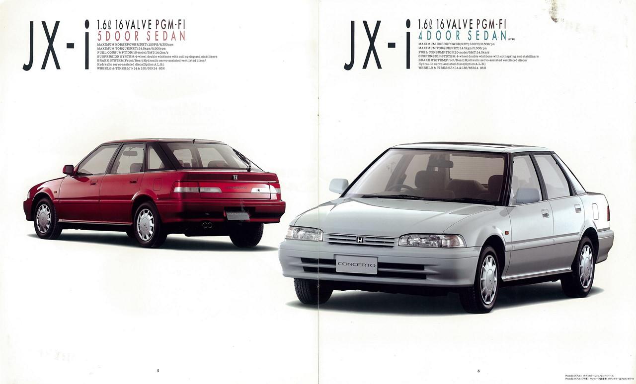 Honda Concerto, broszury, reklamy, foldery, informacyjne