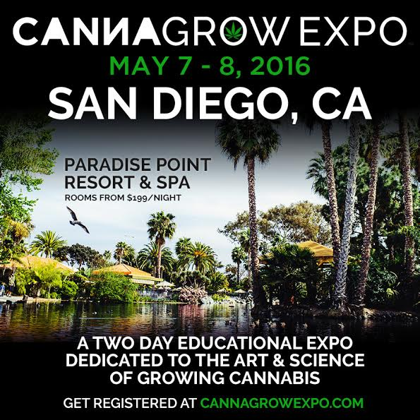 Promo Code SDVILLE Saves $20 On Registration To The CannaGrow Expo - May 7 & 8