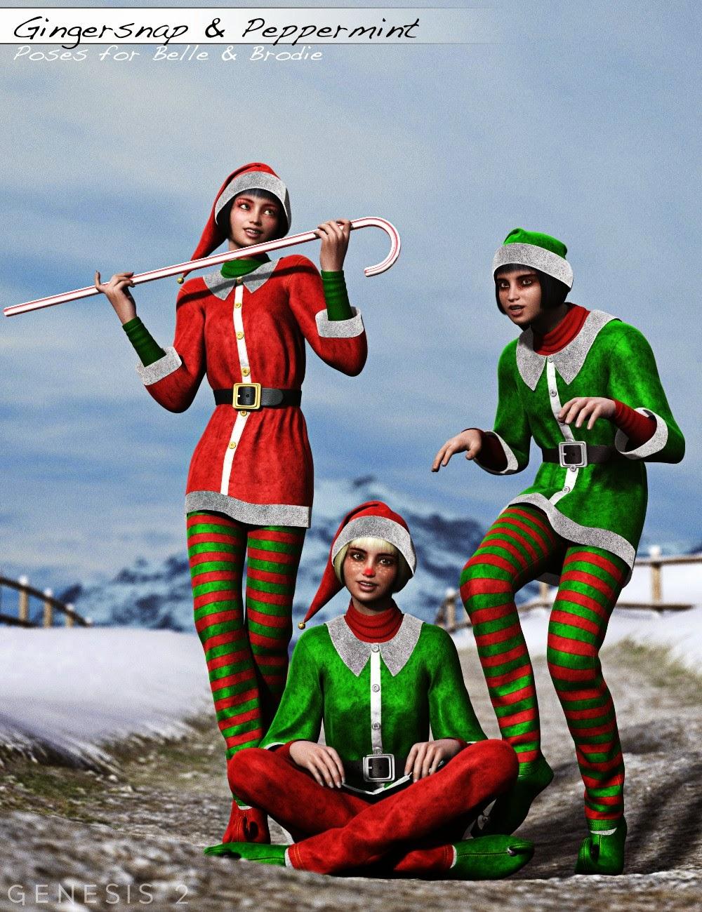 Noël Elfes Bundle - Personnages HD, Outfit, Expansion et Poses