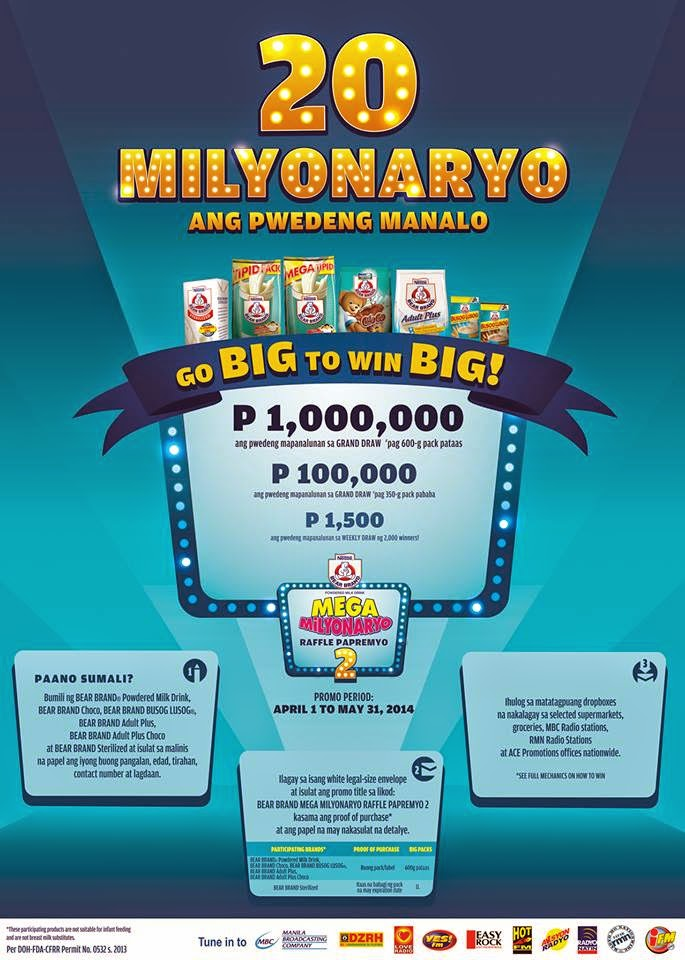 BEAR BRAND Promo, Philippines promo, contest, win big