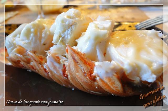 Queue de langouste mayonnaise aux coeurs de palmier