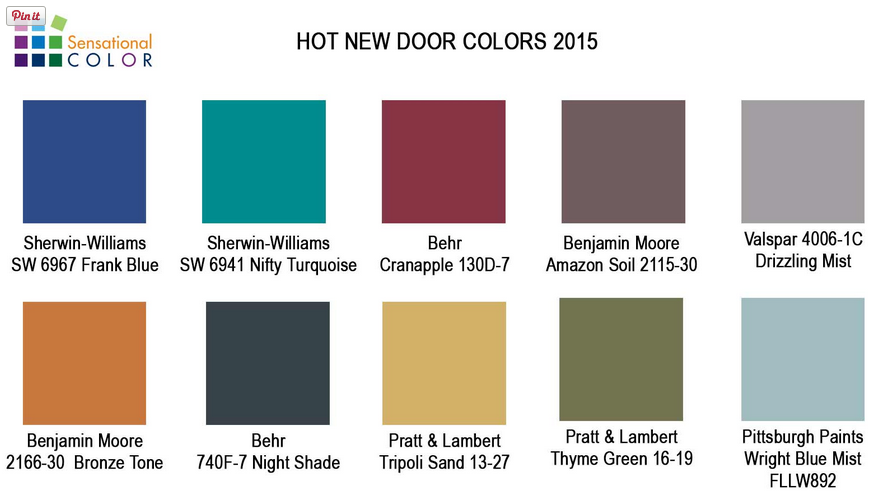 making your home sing hot new door paint colors for 2015. Black Bedroom Furniture Sets. Home Design Ideas