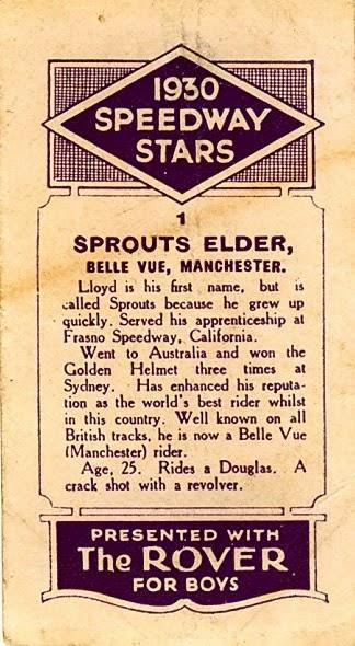 speedway archive the rover 1930 speedway stars - Speedway Fleet Card