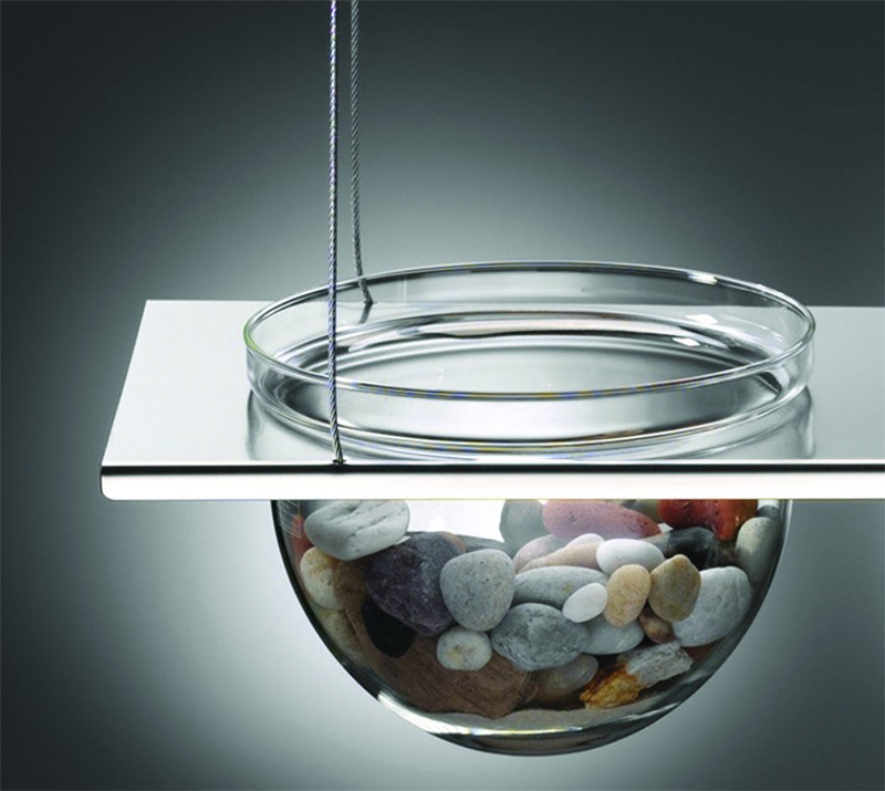 Suspended Glass Display Shelves