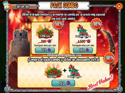 imagen de la oferta del dragon bombero de dragon city
