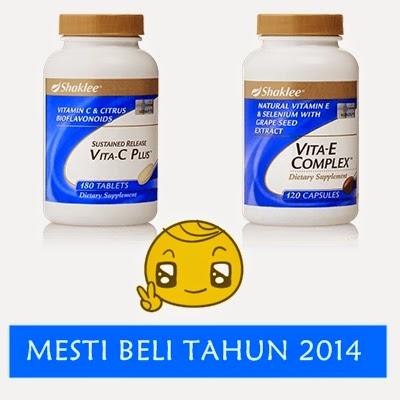 Vitamin C dan Vitamin E mesti beli 2014
