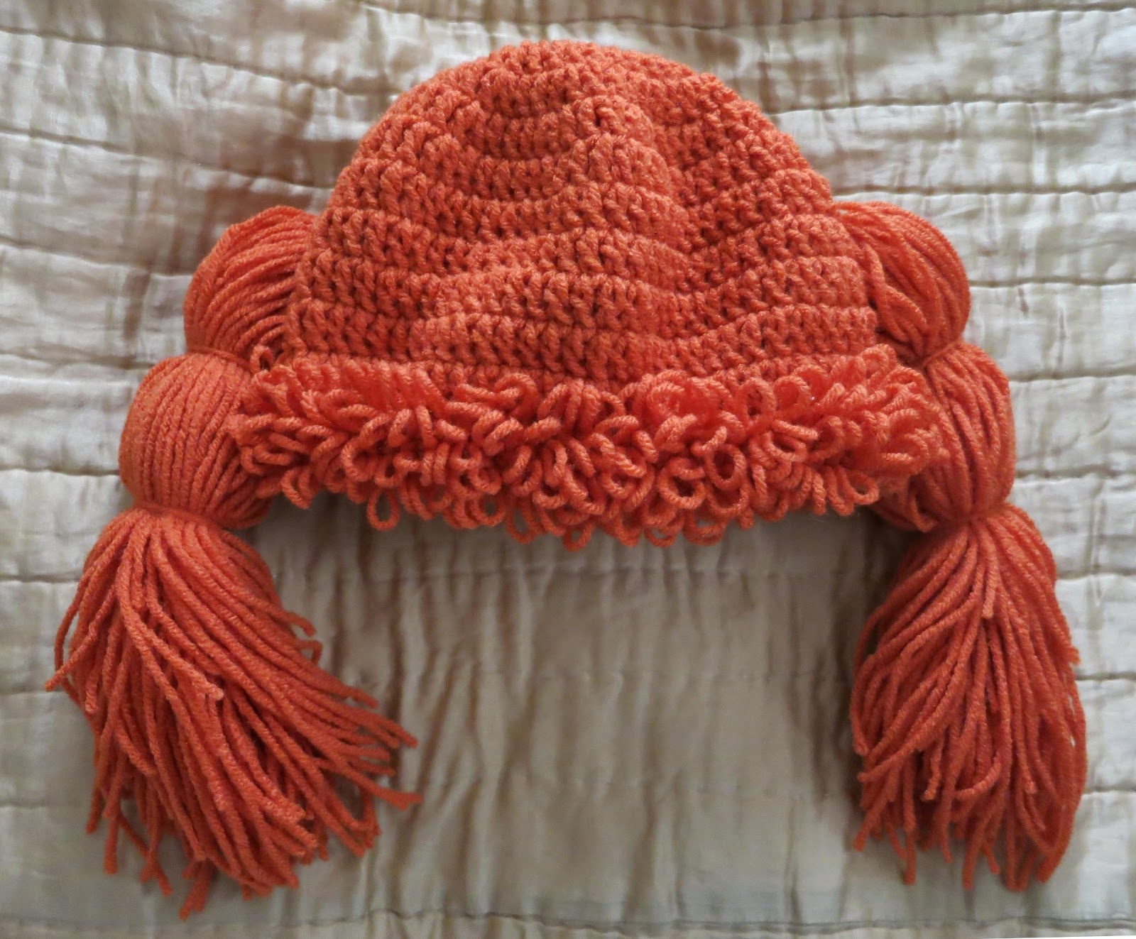 Free Pattern Crochet Cabbage Patch Hat ~ Pakbit for .