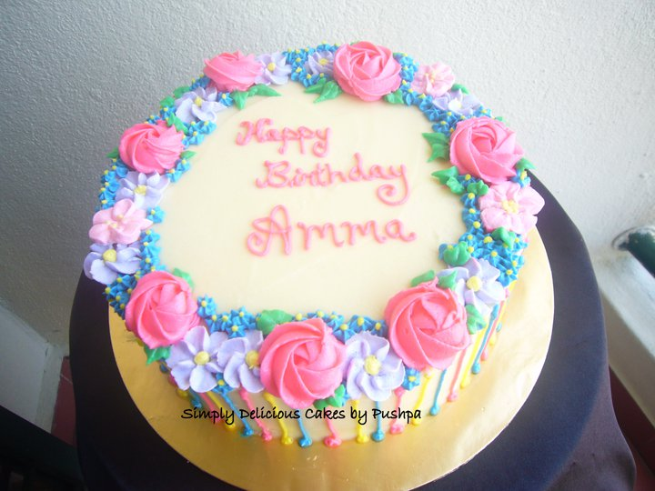 Cake Icing Ideas Birthday : SIMPLY DELICIOUS CAKES: Birthday Cake for Amma