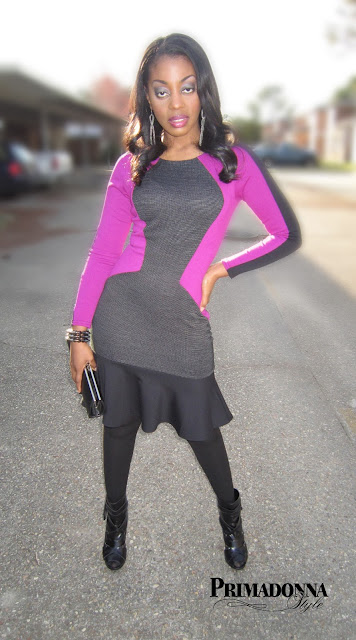 bodycon colorblock dress peep toe booties