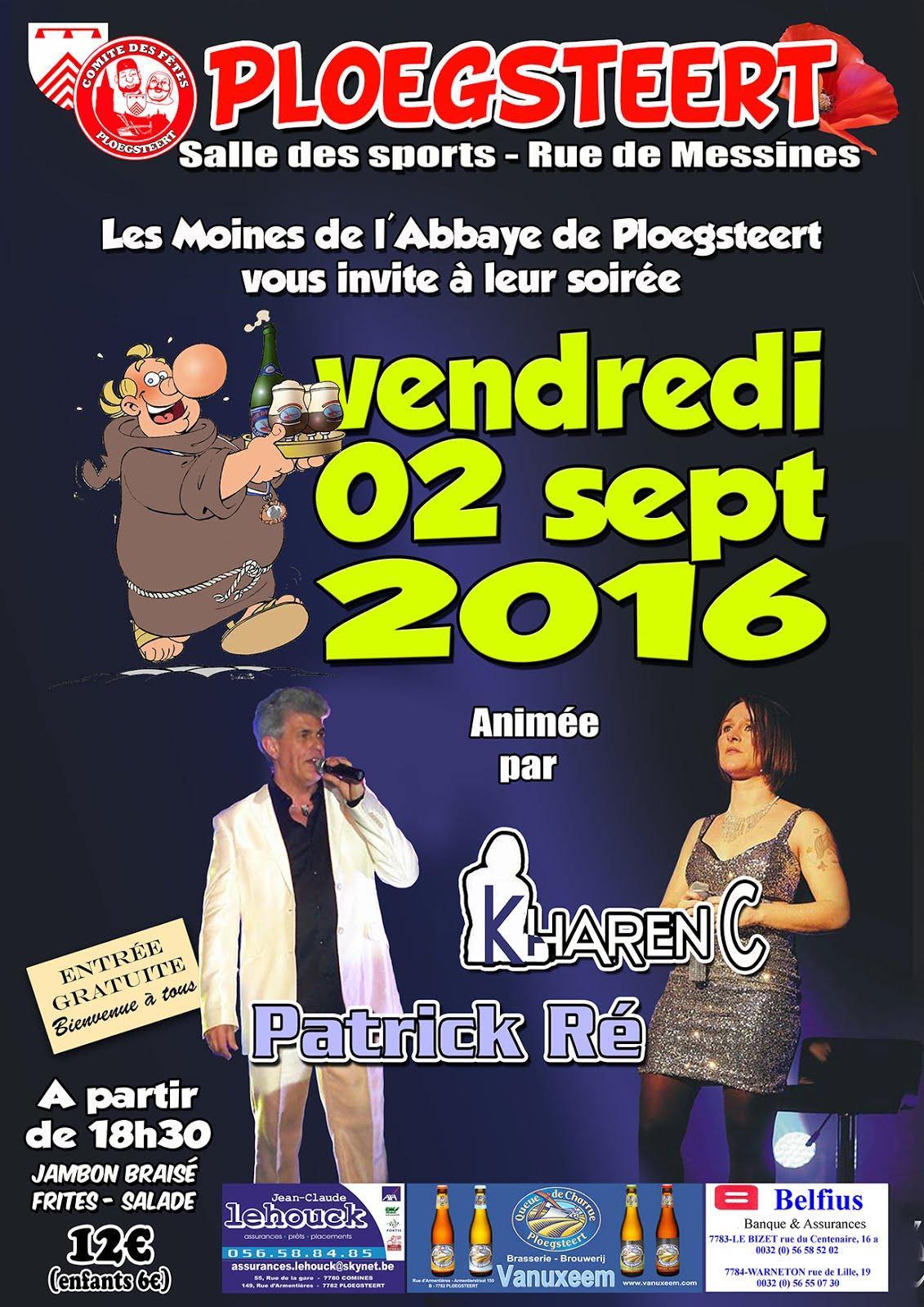 2 septembre soirée de l'Abbaye de Ploegsteert