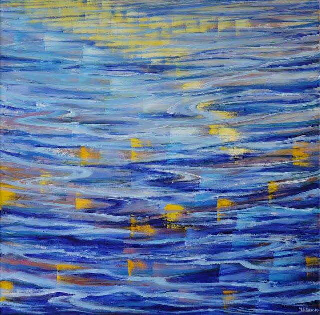 oleo de sucasas movimiento en el agua