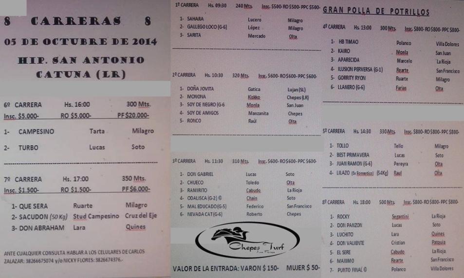 PROGRAMA DE CATUNA