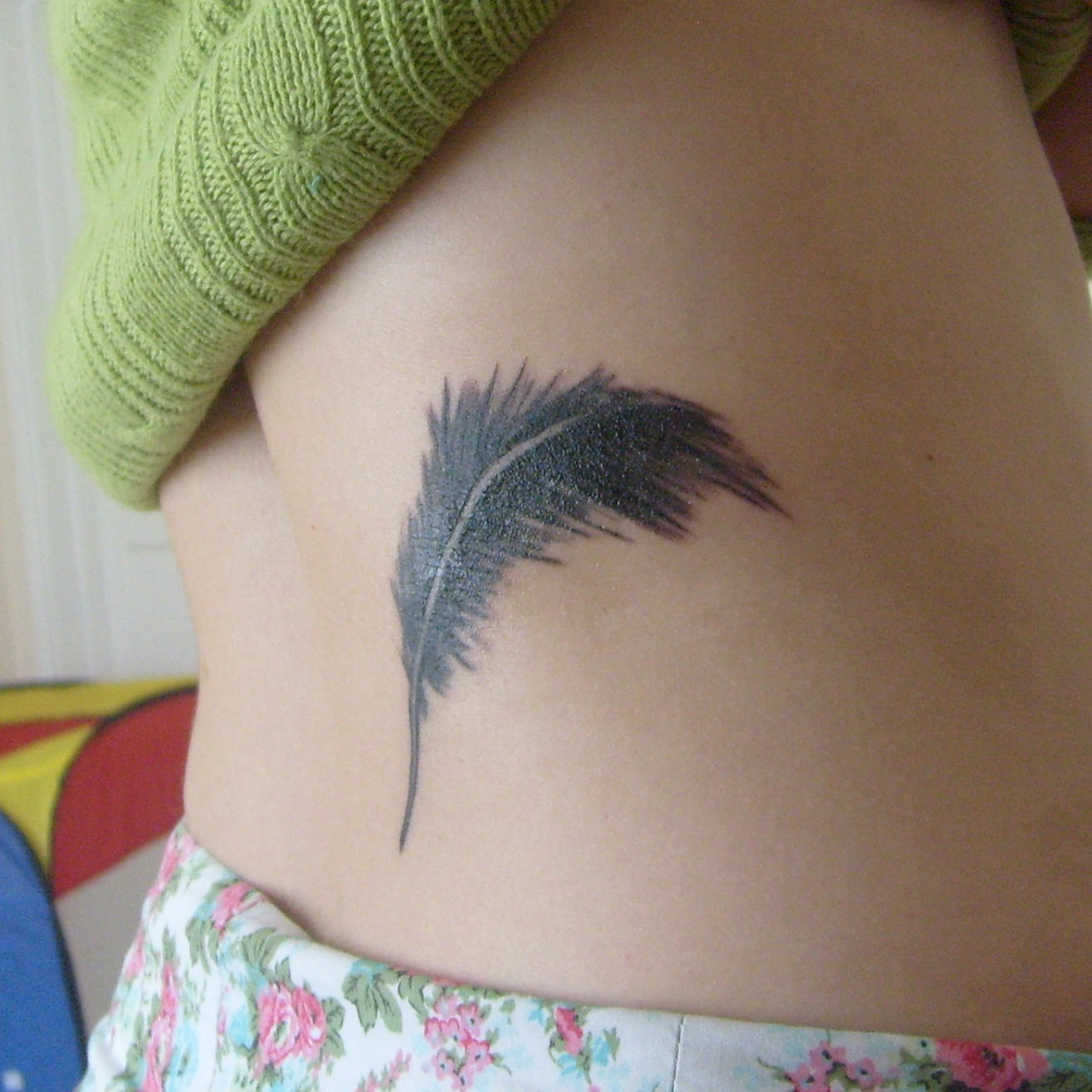 Getting Feather Tattoos On Ribs