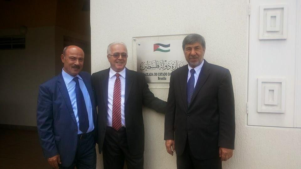 Secretario Geral da FEPAL visita a Embaixada palestina