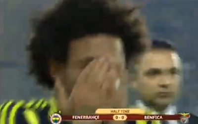 Christian chora após penalty falhado frente ao Benfica