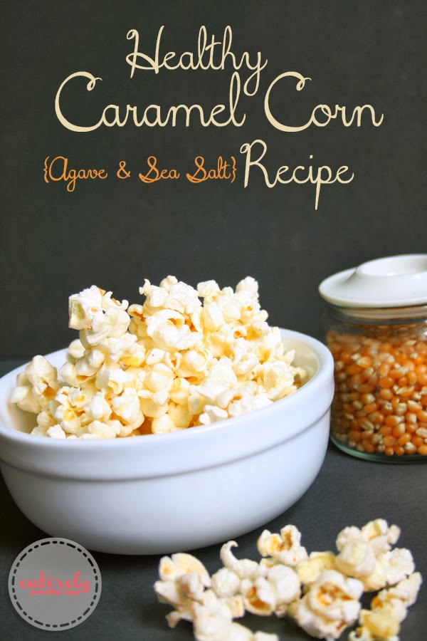 Healthy Caramel Corn Recipe! No refined sugar! www.entirelyeventfulday.com #squattypotty #healthytraditions #popcorn
