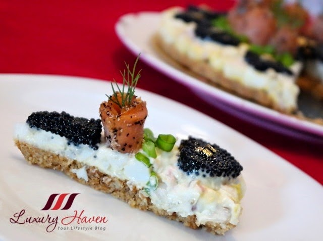 mothers day salmon caviar tart recipe ideas