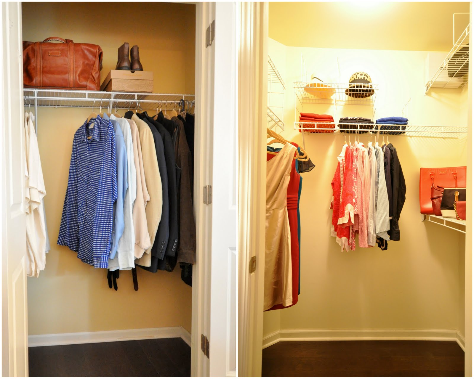 Closet staging for real estate photos and our open house - Small bedroom closet design ideas ...
