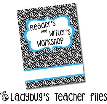 Reader39s writer39s workshop binder covers ladybug39s teacher files for Reading binder cover