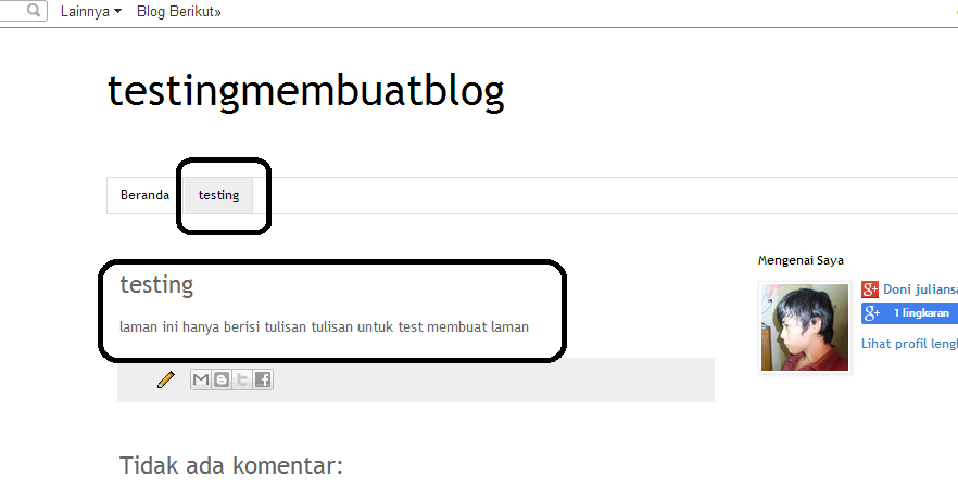 Cara membuat posting dan laman pada blog ~ Tempatnya sharing ...