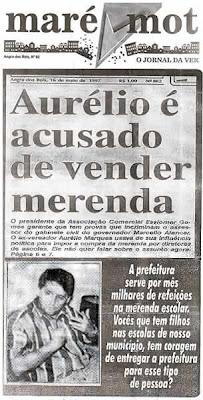 Aurélio Marques acusado de vender merenda escolar