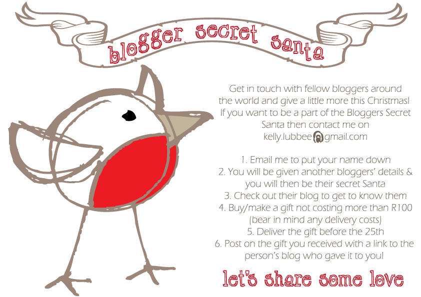 Sunflowers spears bloggers secret santa for Secret santa email template
