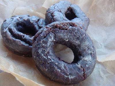chocolate cake donuts glazed