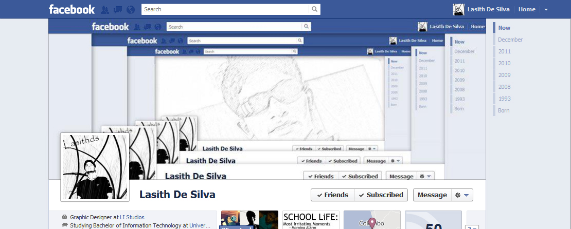 Customized facebook cover page facebook 3d cover layout