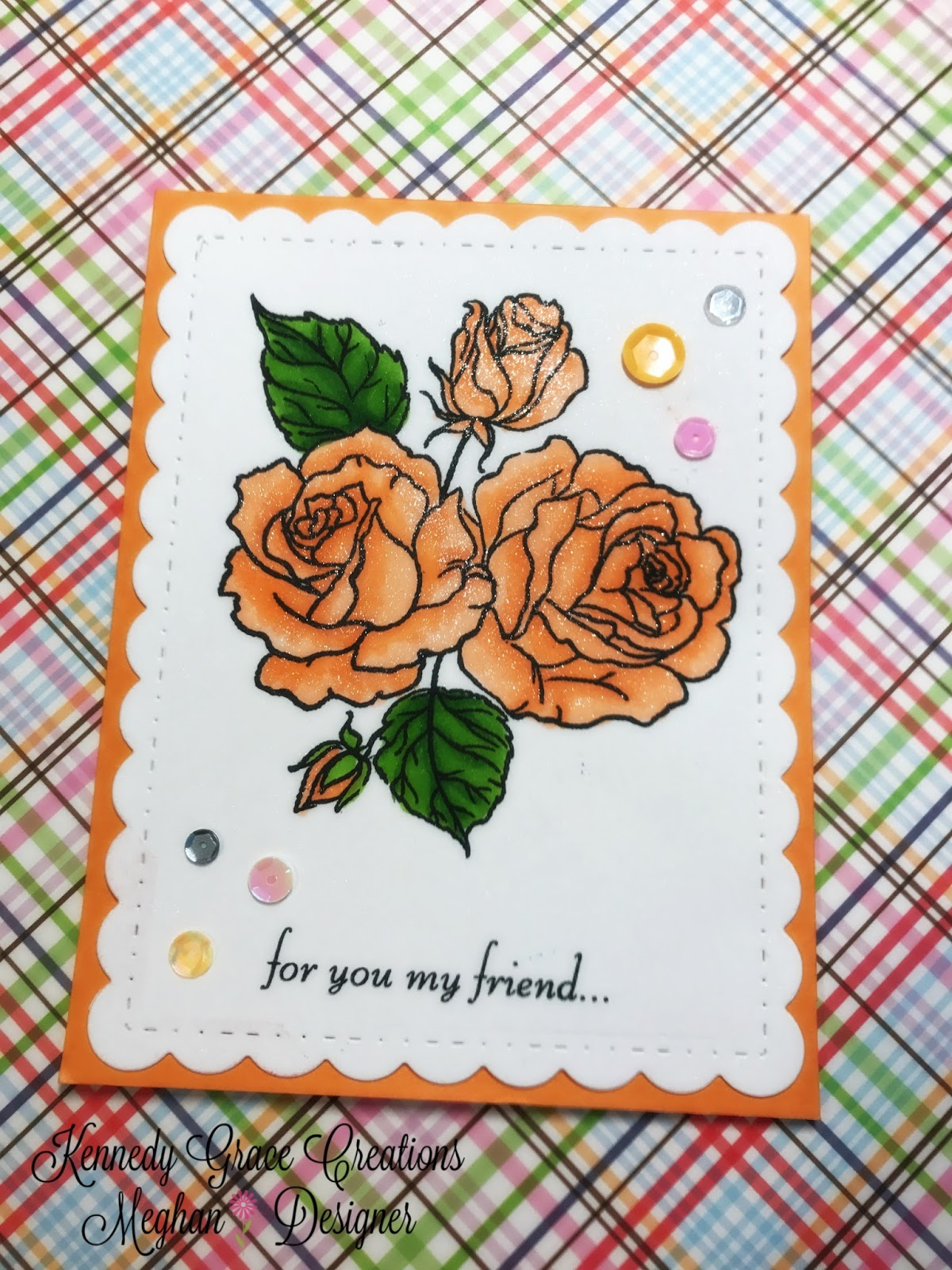 Clean and simple stamping and copic coloring with splendid rose