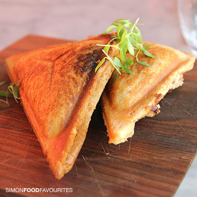 Crab toasties: Spanner crab with horseradish and apple ($10 each ...
