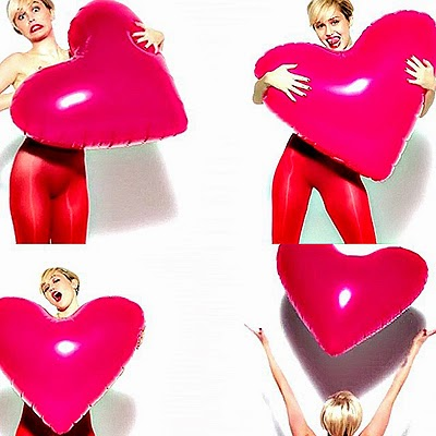 Miley Cyrus appeared topless in advertising tights