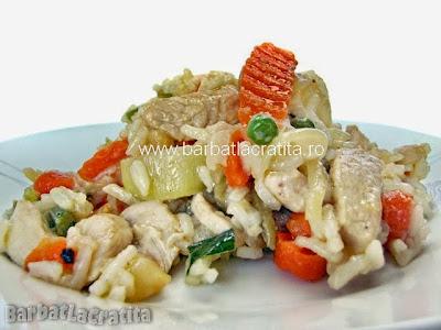 Orez cu pui si legume reteta