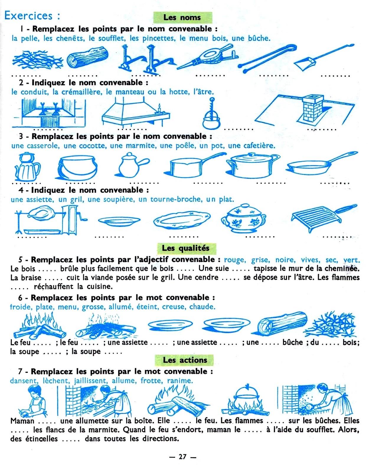 Vocabulaire de la salle de bains fle lexique de la for Les cuisines