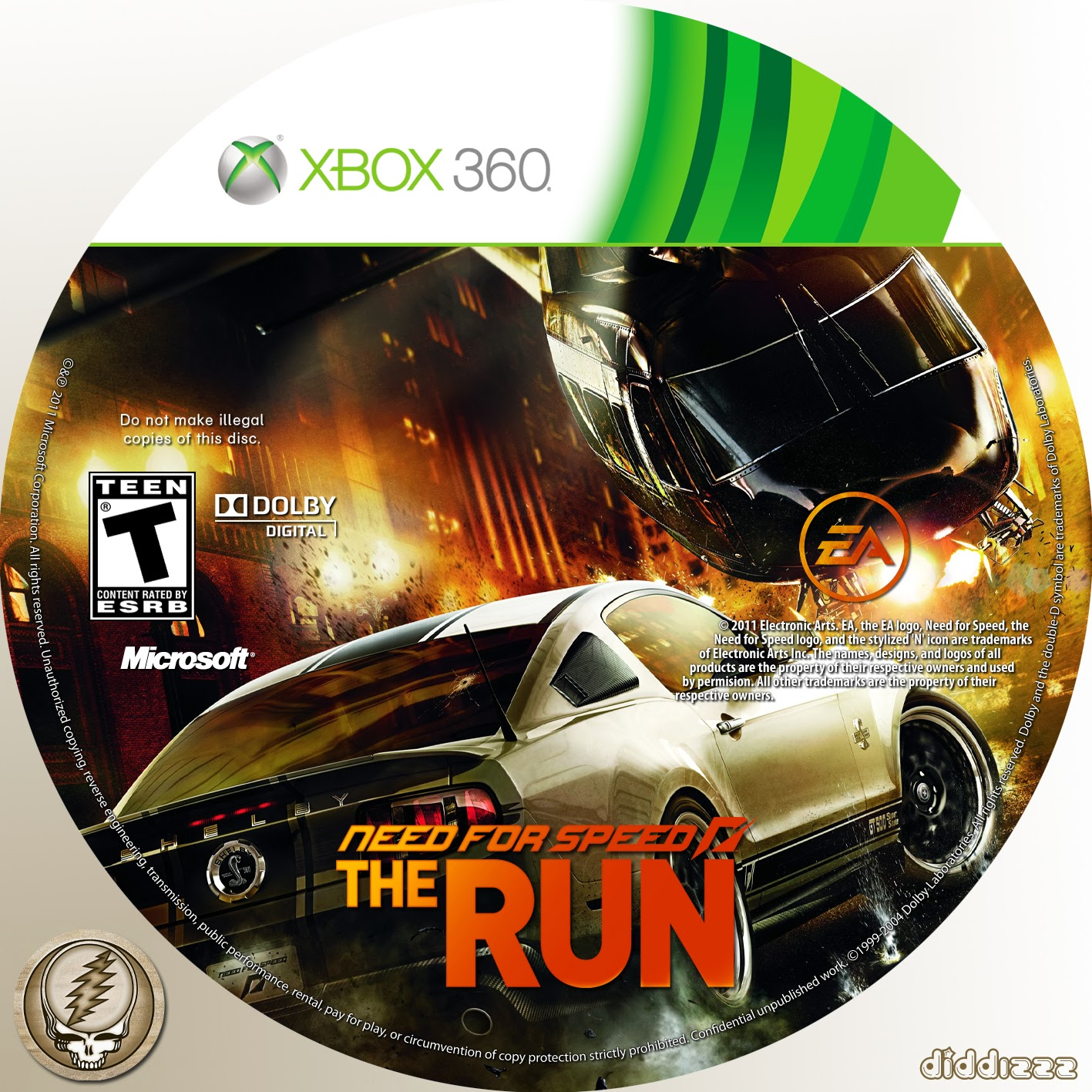 Label Need For Speed The Run Xbox 360 ~ Gamecover | Download de capas