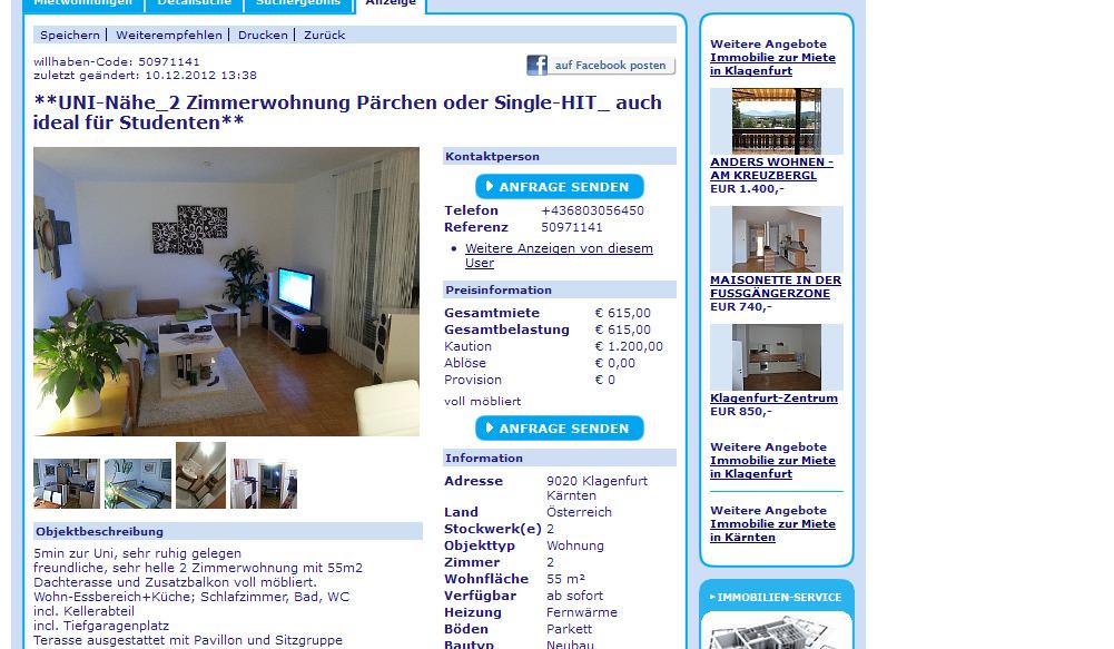 ... mit Küche - Nähe Infra Center in Linz auf Kleinanzeigen.at