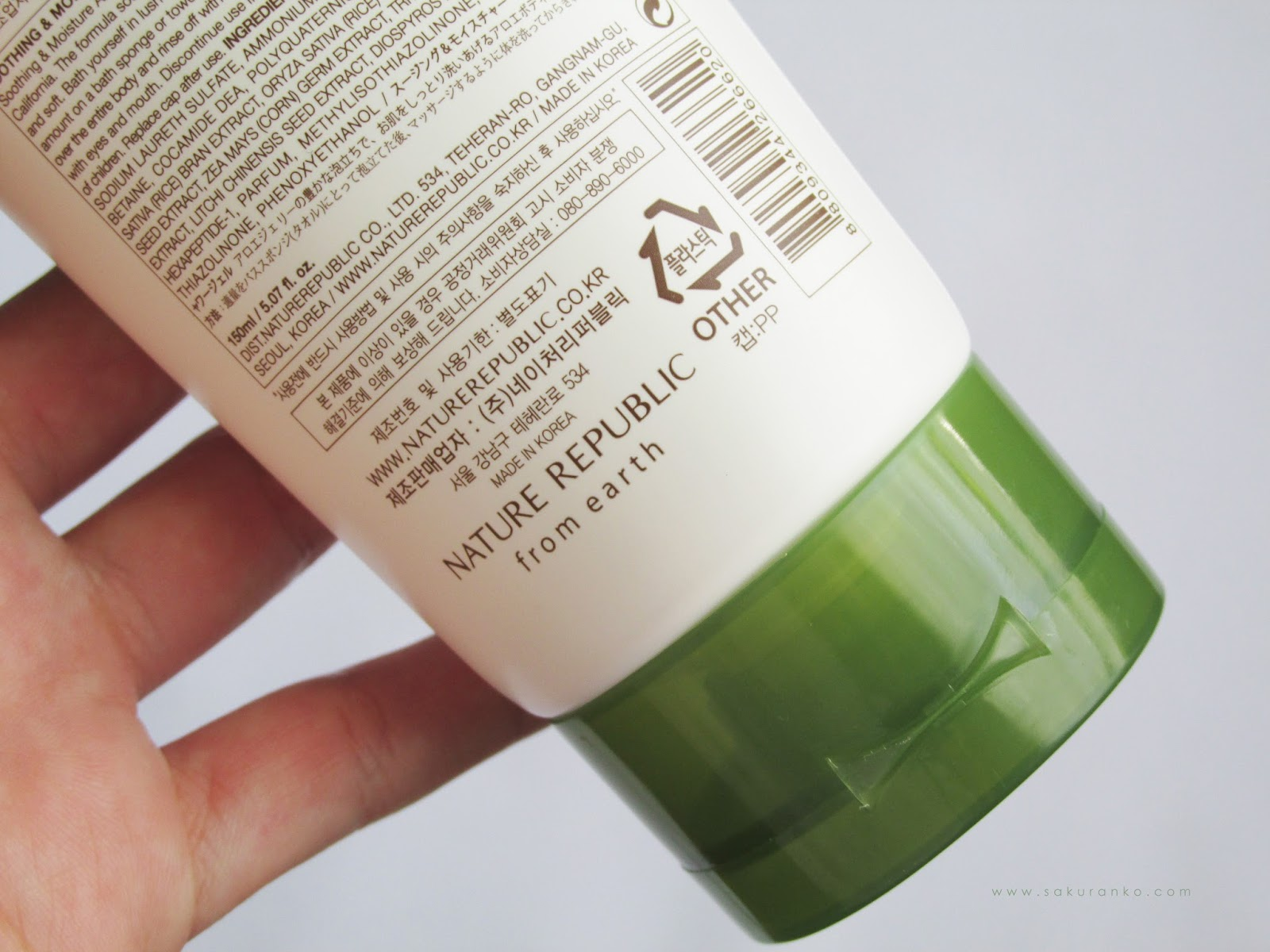 Nature Republic Soothing Moisture Aloe Vera 90 Body Shower Gel Foam Cleanser Texture And Aroma The Is Just A Incolre But Not Heavy Its More Lightwight Like Natural