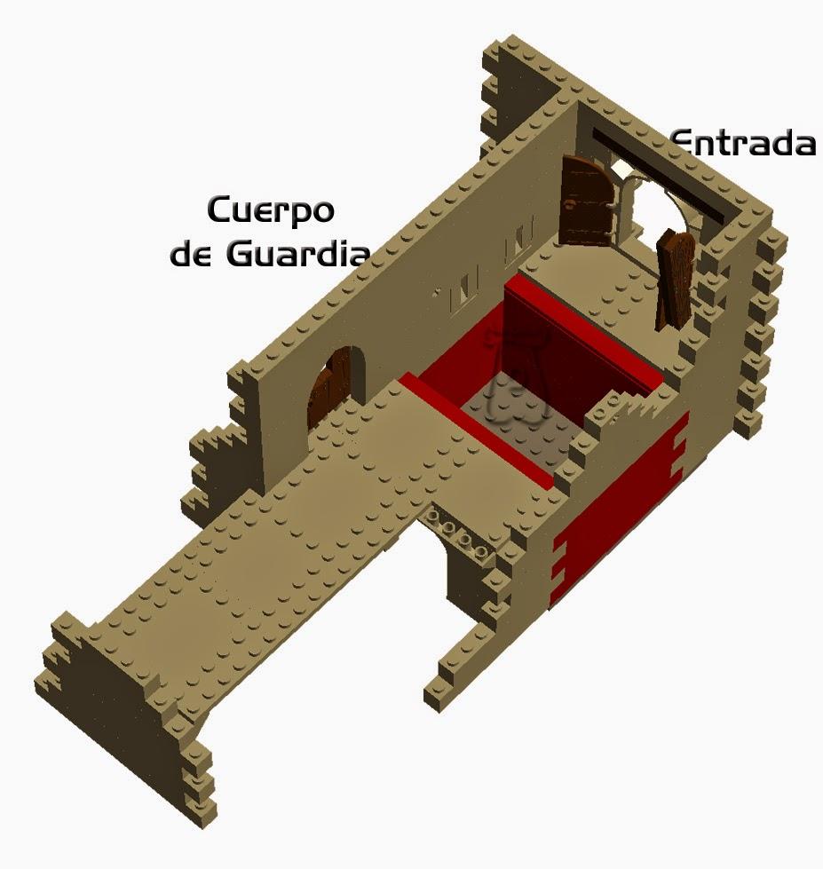 Ejemplo 1: haha o foso interno construido tras la puerta de ingreso a la fortaleza.