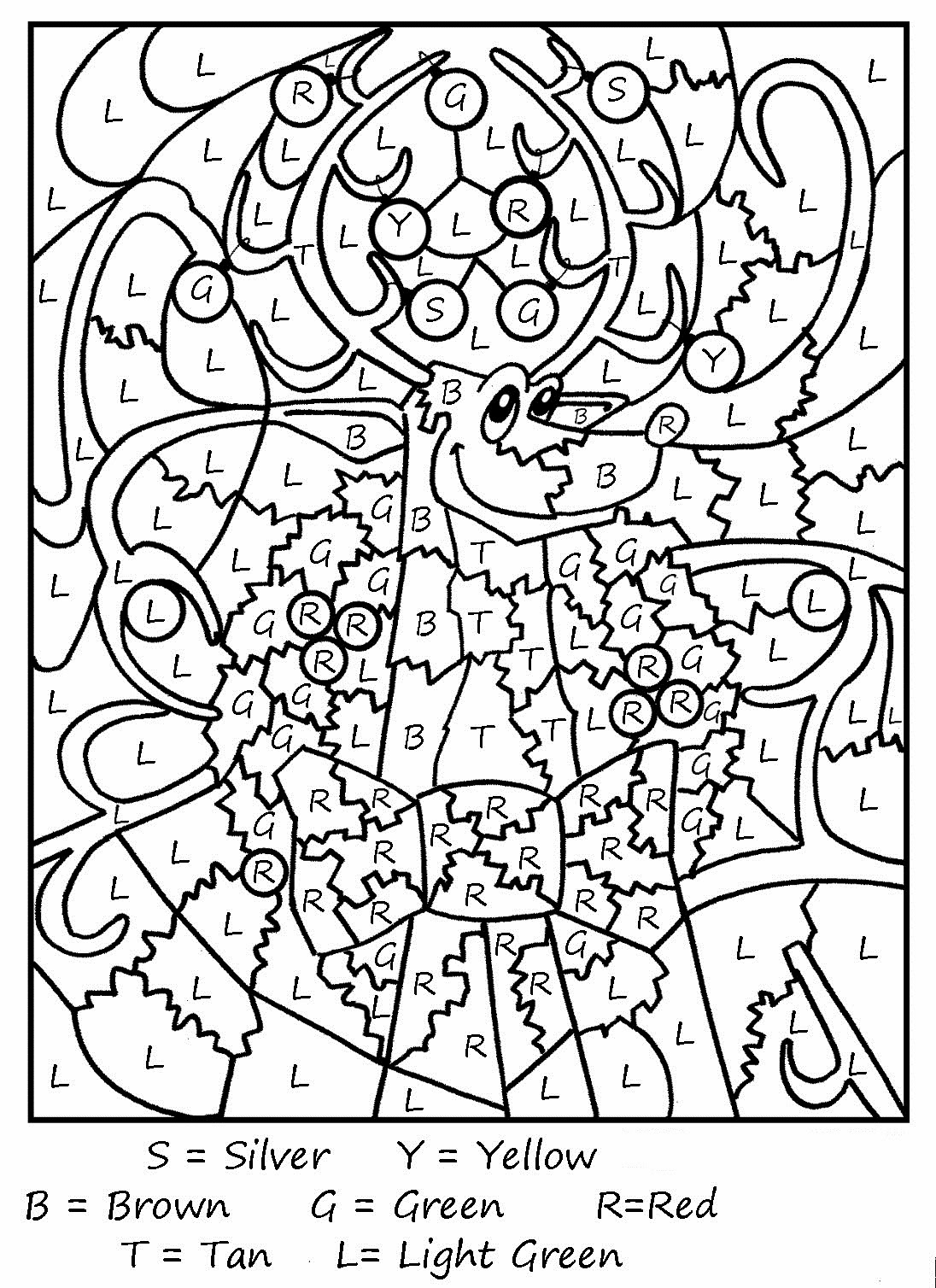 Free printable coloring pages reindeer - Olive The Other Reindeer Coloring Page Coloring Pages