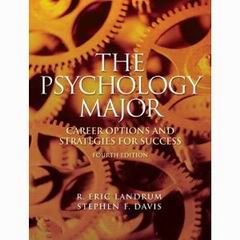 The psychology major career options and strategies for success pdf