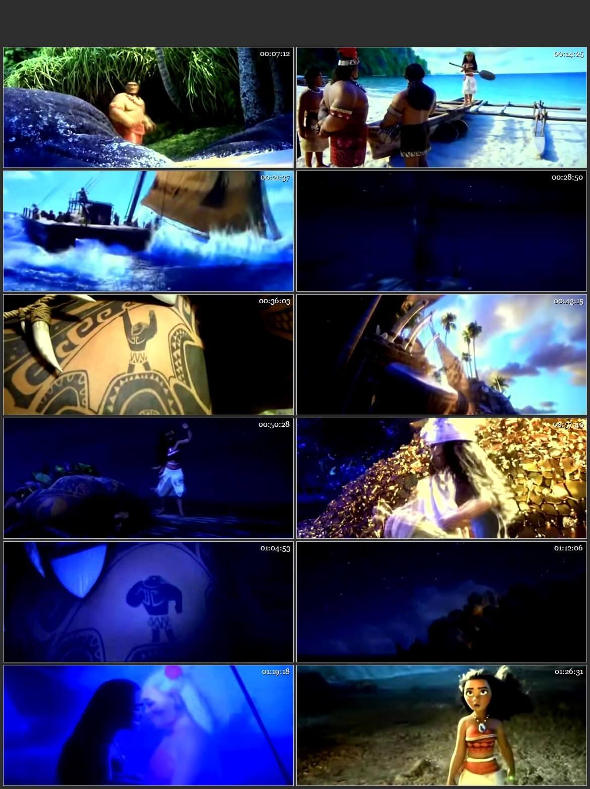 Screen Shot Of Moana 2016 300MB Full Movie Hindi Dubbed Free Download 480P HDTS Small Size PC Movie