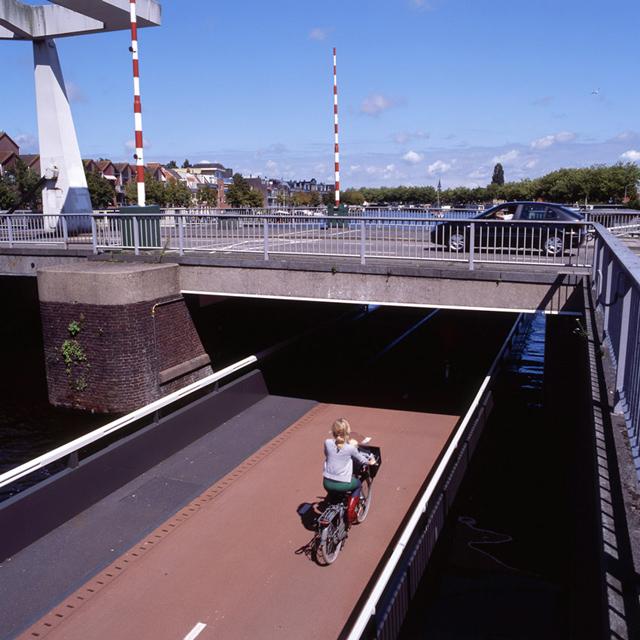 Incrível passarela compartilhada conecta ciclovia
