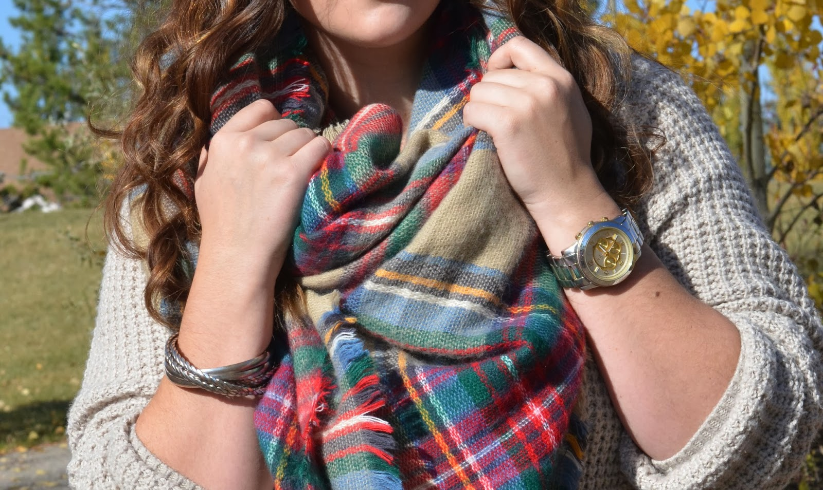 The Perfect Plaid Blanket Scarf