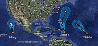 OPHELIA ist zurück - und wird ziemlich sicher zum vierten Hurrikan 2011 im Atlantik, Ophelia, Verlauf, Vorhersage Forecast Prognose, Puerto Rico, Dominikanische Republik, Punta Cana, Kleine Antillen, Leeward-Inseln, September, 2011, Hurrikansaison 2011, aktuell,