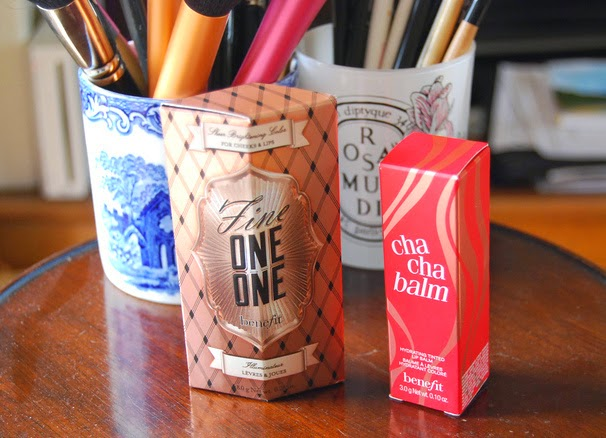 Benefit Packaging Fine One-One and Cha Cha Balm