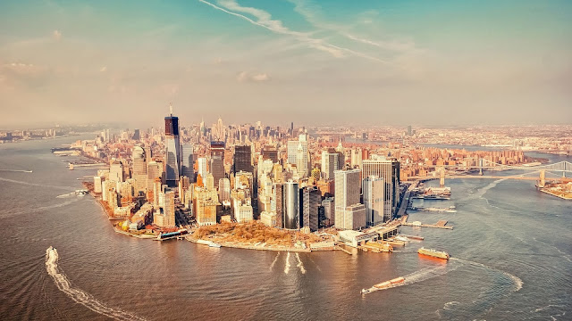 Manhattan City from Above