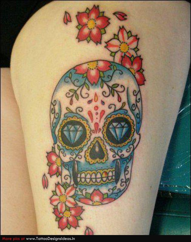 Rad tats sweet sugar skulls for Sugar candy skulls tattoos